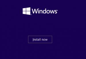 Installations-Bildschirm der Windows-10-Preview