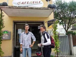 Stefan von der Cafemeile in Obernbreit ist ein Analog-Saurier.