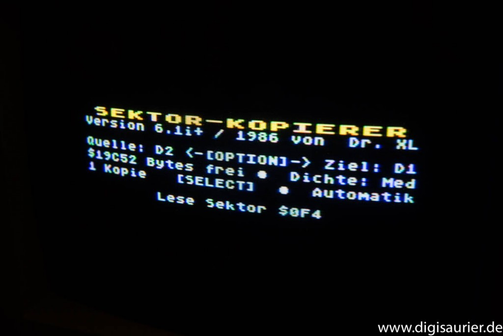 Sektor-Kopierprogramm für den Atari XL