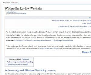 Eine Projektseite der Wikipedia:Review
