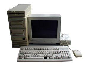 Ein Tandon 286 PC mit zwei DataPacs