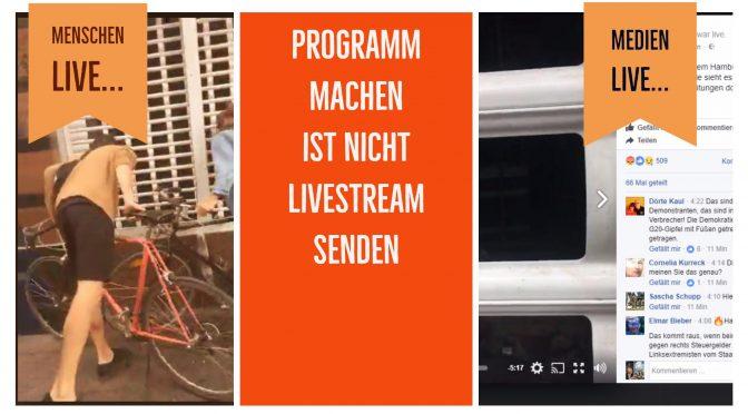 Ein Livestream weil was passiert ist – kein Programm
