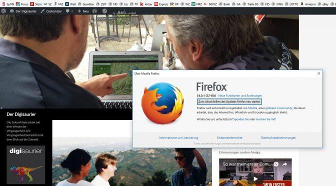 Mozilla Firefox 55 - Totgesagte leben länger