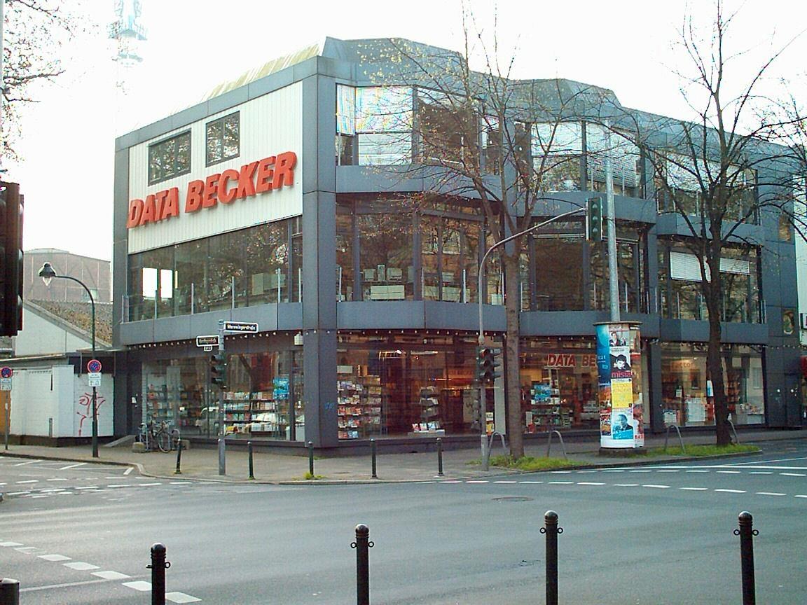 Das ehemalige Gebäude von Data Becker in Düsseldorf-Bilk (abgerissen 2015)