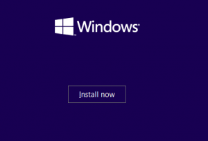 Installations-Bildschirm der Windows-10-Preview