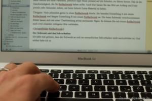 Der Computer: Befreiung von der Handschrift.