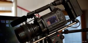Eine digitale Filmkamera Sony PMW F3