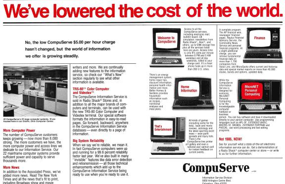Zeitschriftenanzeige für Compuserve aus dem Jahr 1990