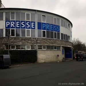 Treffpunkt der IT-Journalisten zur CeBit: Das Pressezentrum der Messe in Hannover.