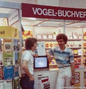 Hannes, Christian und das C64 Buch - am Stand vom Vogel-Verlag
