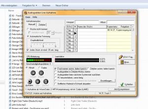 Der Audiograbber macht MP3-Dateien