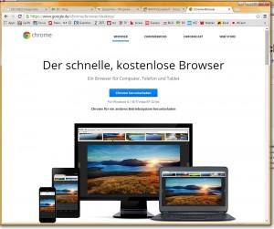 Chrome heißt der Google-Browser