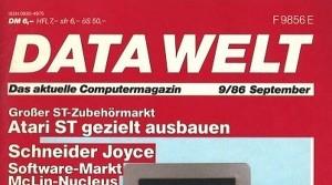 Data Welt 9/86 - erstmals mit Amiga-Window