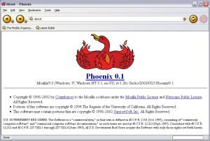 Phoenix - der Vorgänger des Firefox