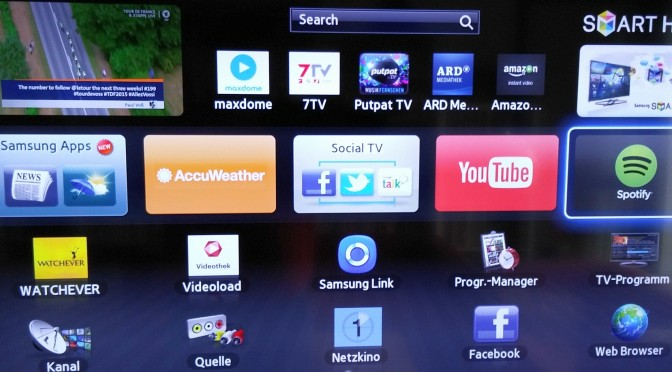 Jetzt gibt's mauch schon Apps für den Fernseher