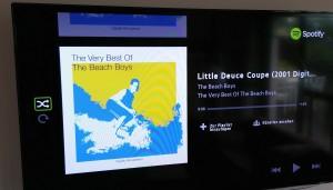 Spotify-App auf einem Samsung SmartTV