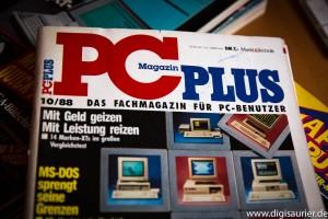 Die PC Plus 10/88 - Martins erste Ausgabe als fest angestellter Redakteur. Leider ohne Amiga...