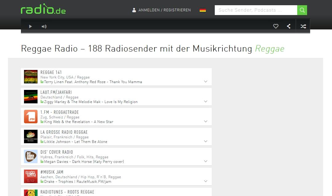 Radio.de - der virtuelle Weltempfänger