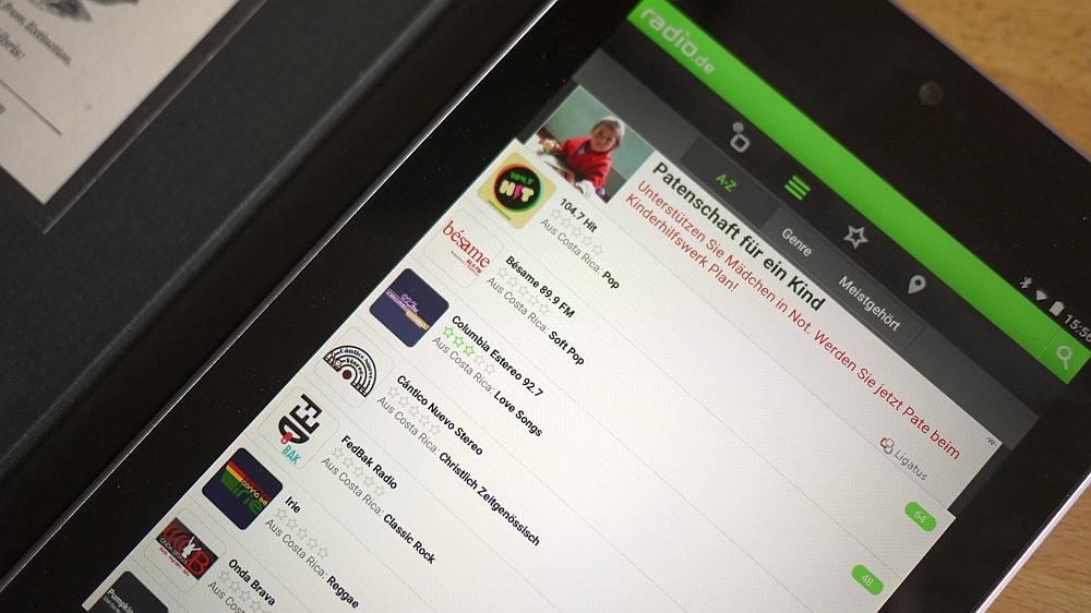 Radio.de - auf dem Desktop und per App auf Tablet und Smartphone