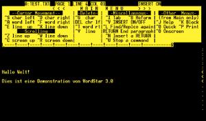 Wordstar - die erste richtige Textverarbeitung