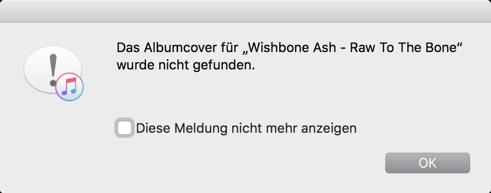 iTunes findet bei weitem nicht alle Cover.
