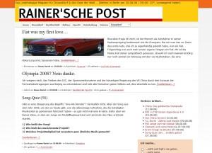 Die Rainer'sche Post in einer frühen Version