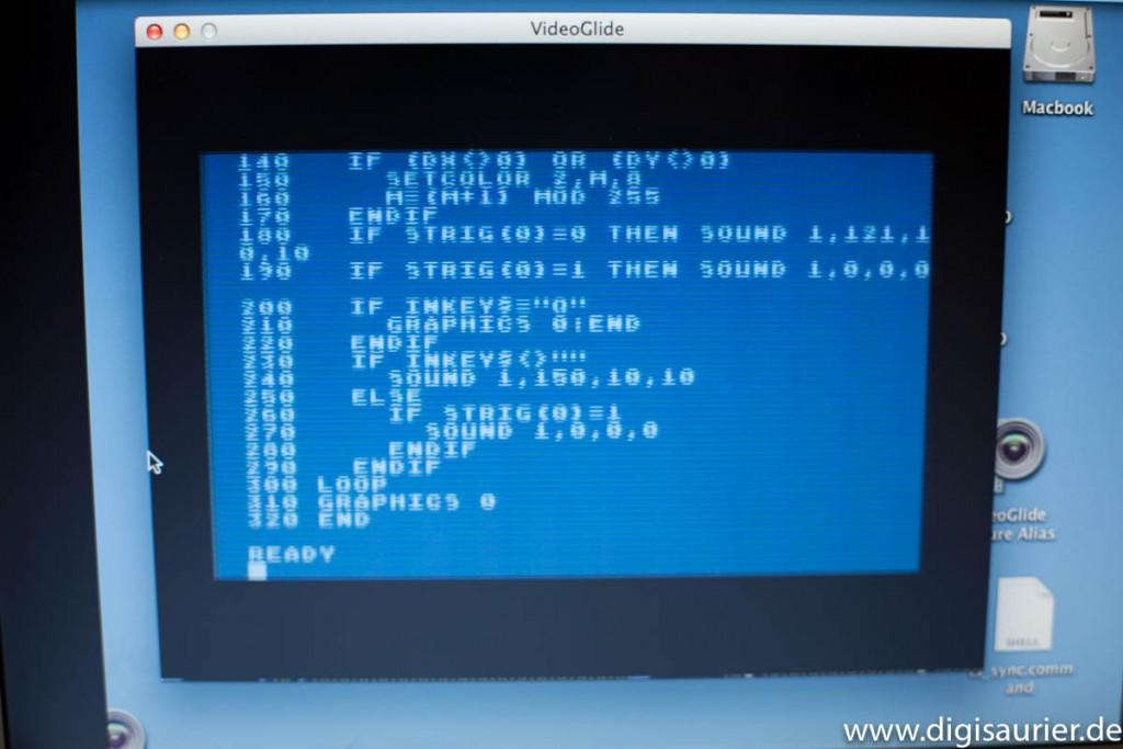 Flimmern: Mit dem Videograbber als Monitor-Ersatz hatte ich keine Freude.