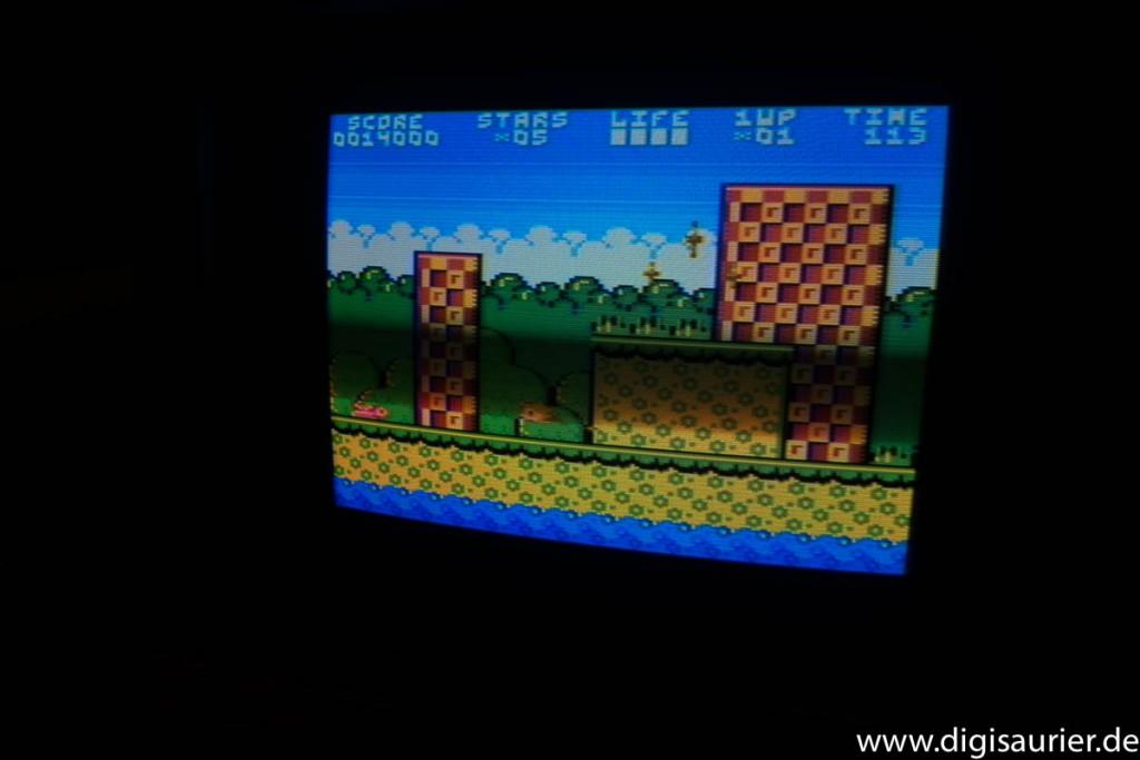 Ein Jump and Run Spiel auf dem Atari XL