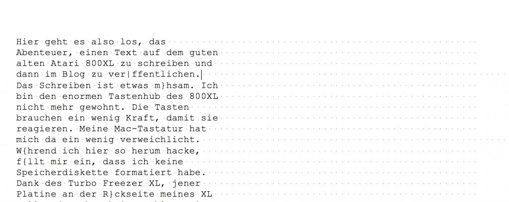Eine Textdatei in Word mit vielen Leerzeichen.