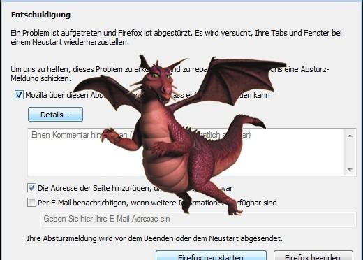 Firefox und der Drache IEeee