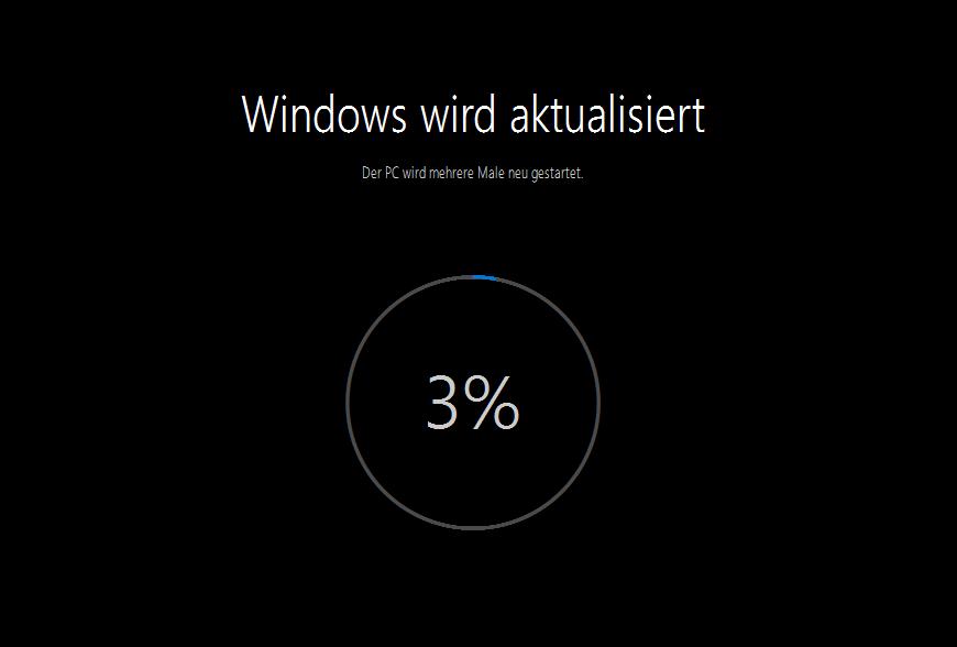 Windows wird aktualisiert