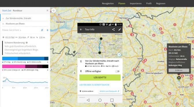 Lieblingsapps: Komoot für Radler und Wanderer