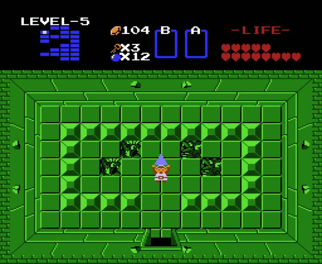 Emulatoren wie Open EMU bilden das Nintendo NES nach: Hier Legend of Zelda, Ende des fünften Levels