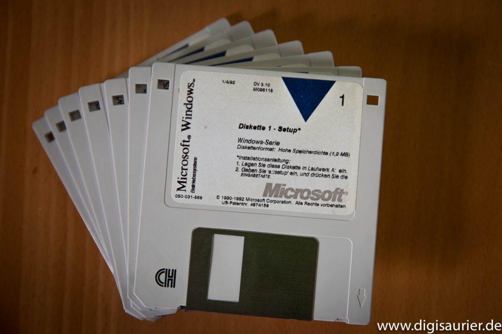Der Diskettensatz von Windows 3.1