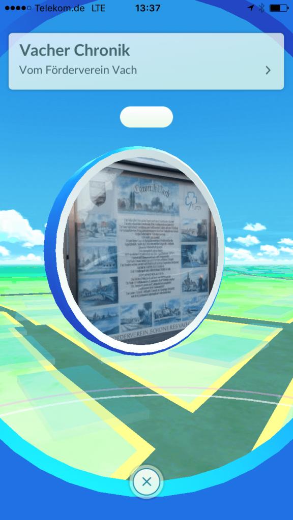 Oh, das wusste ich nicht - ein Pokestop bringt mich zu einer Infotafel, die etwas über die Geschichte des Ortes erzählt.