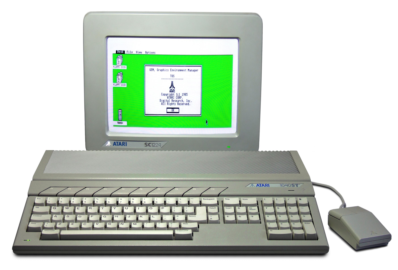 Das erste Modell des Atari ST von 1985