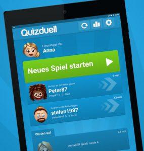 Man kann Quizduell auch gegen wildfremde Gegner spielen