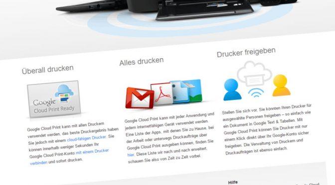 Die einfachste Lösung: Google Cloud Print