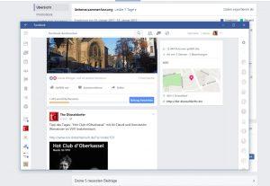 Und so sieht Facebook in der Windows-App aus...
