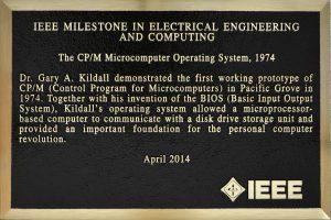 Ehrentafel: Für Gary Kildall und seine Erfindung CP/M