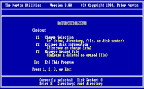 Die Norton Utilities in der Version von 1984