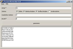 JPasswortGenerator - baut komplexe Passwörter nach Wunsch