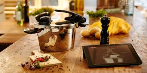 Auch Fissler bietet digitales Kochen mit dem vitacontrol-digital-System (Foto: Fissler)