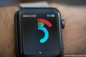 Drei Kreise der Apple Watch