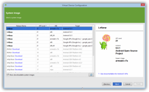 Screenshot: Amir benutzt das Android SDK