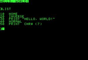 Auch damit hat Bernd gearbeitet: das Applesoft BASIC
