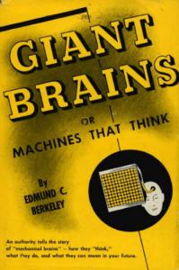 """Cover seines populären Buches über """"mechanische Gehirne"""" von 1949"""