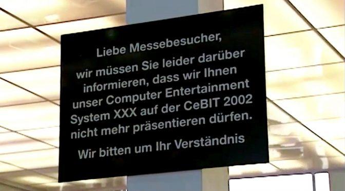 Skandal auf der CEBIT! Freiheit für die Playstation!