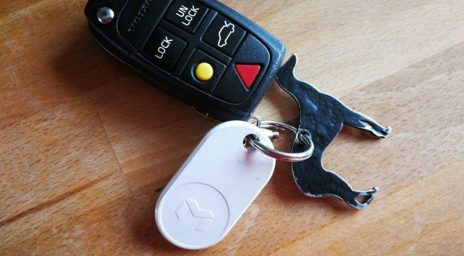 Mynt ES, der digitale Sachenfindet, sichert den Autoschlüssel