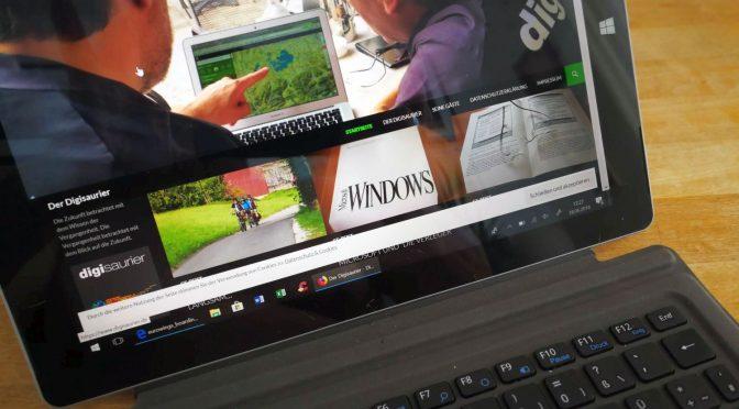 10-Zoll-Windows-Tablet - mit Tastatur ein vollwertiges Arbeitsgerät